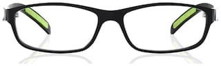 Fastrack Black Square Full Rim Eyeglasses for Men - Frame cloth and hard cover