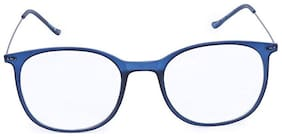 Fastrack Blue Oval Full Rim Eyeglasses for Men - 1 pc