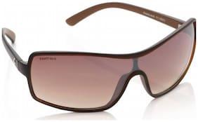 Fastrack P119BR2 Wrap-around Sunglasses  (Brown)