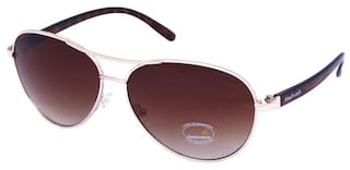 7eeff9aecff Buy Fastrack UV Protected Aviator Women s sunglasses (C053BR3F Brown ...