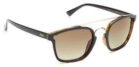 FILA Unisex Polarised Brown Square Sunglasses-(SF9134K 978P|51)