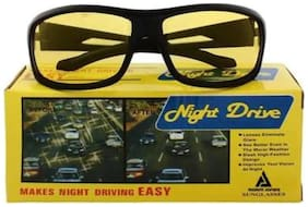 Flozum Latest Trending Sports Sunglasses In Yellow Shades/Night Driving Sunglasses With UV Protected