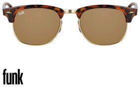 FUNK Gold Wayfarer Medium Sunglasses