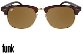 FUNK Gold Wayfarer Medium Sunglasses
