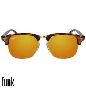 FUNK Yellow Wayfarer Medium Sunglasses
