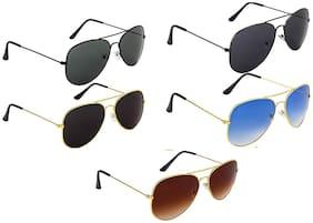 Genxtra Anti glare lens Aviator Sunglasses for Men , 5
