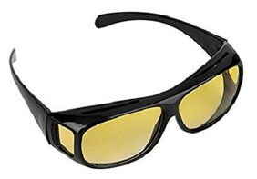 GIFTEE Uv Protected Hd Night Vision Driving Wrap Arounds Men's Sunglasses - (Hdvision 48 Yellow)