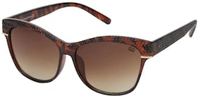 Gio Collection UV Protected Wayfarer Women Sunglasses - ( 54 | Brown Lens)