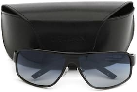 Titan Eyeplus Black Men's Wrap Around Sunglasses