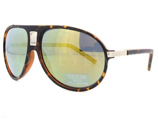 65551930f5 Buy Guess Grey Aviator Medium Sunglasses Online at Low Prices in ...