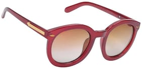 Hawai Red Frame Round Frame Sunglasses