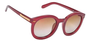 Hawai Red Frame Round Frame Sunglasses