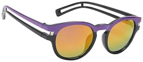 Hawai Round Purple & Black Sunglass