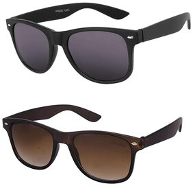 HH Combo of Black and Brown Wayfarer Sunglasses