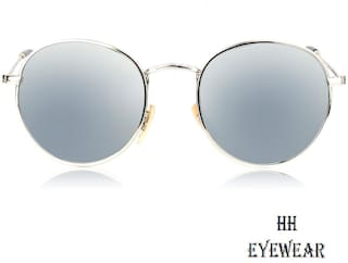HH Pento Gold Frame Silver Lens Mirrored Sunglass