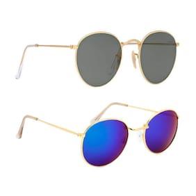 HH Round Unisex Sunglasses Pack of 2