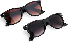 HH Mirrored lens Wayfarer Sunglasses for Men , 2