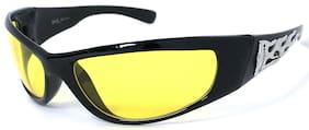 HOT CHOPPERS Biker Sunglasses Night Driving Lens Wrap Around Flame Choppers Logo
