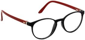 Hrinkar Black Aviator Full Rim Eyeglasses for Women