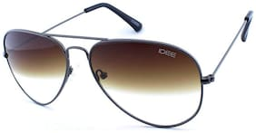 IDEE Gradient Aviator Unisex Sunglasses - (IDS2001C49SG|58|Brown Half Gradient Color Lens)