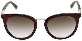 IDEE Gradient Round Women's Sunglasses - (IDS2226C4SG|52|Smoke Gradient Color)