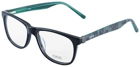 IDEE Black Rectangle Full Rim Eyeglasses for Men - Eyeglass frame & Case
