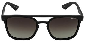 IDEE [IDS2320C4PSG] SIZE 53 BLACK RECTANGLE UV PROTECTED SUNGLASS
