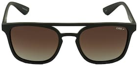 IDEE [IDS2320C5PSG] SIZE 53 BROWN RECTANGLE UV PROTECTED SUNGLASS
