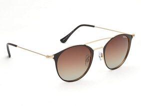 IDEE Polarized Round Women's Sunglasses - (IDS2403C6PSG|50|Brown Gradient Color Lens)