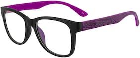 Imported Black Purple Clear ARC Wayfarer Wooden Texture Unisex Sunlgasses - SS1595