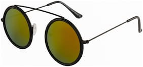 Imported Black Red Mirror Round Bar Unisex Sunlgasses - SS1461