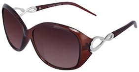 Imported Brown UV Protected Sunglasses for Women and Girls