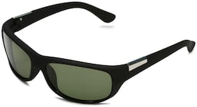 Imported Green Sports Wrap Around Sunglass with UV 400 Glass Lens