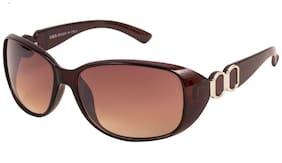 Imported Wrap-around Sunglass For Women Brown Size-M
