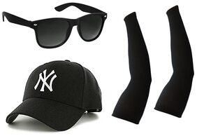 IMPERIOR Black Wayfarer Medium Sunglasses