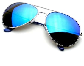 INDMART Stylish Blue Mirror Sunglass