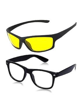 Ivonne Classic Wayfarer and Wrap Around Unisex Sunglasses - Pack of 2