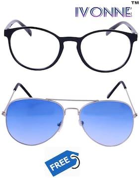 Ivonne Anti glare lens Round Frame Sunglasses for Men - 2