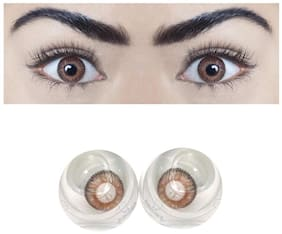 Ivonne Dark brown Monthly Contact Lenses - 1 lens pack