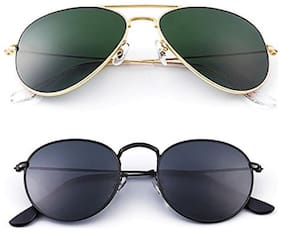 Ivonne Mirrored lens Aviator Sunglasses for Men