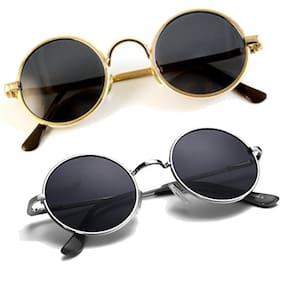 Ivonne Rounds Unisex Sunglasses Combo (Multicolour)