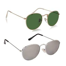 Ivonne Round Unisex Sunglasses Pack of 2