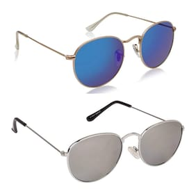 Ivonne Round Unisex Sunglasses Pack of 2