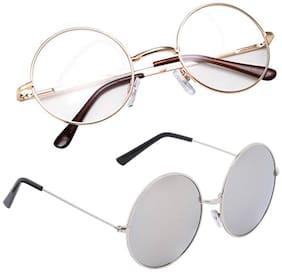 Ivonne Mirrored lens Round Frame Sunglasses for Men - 2