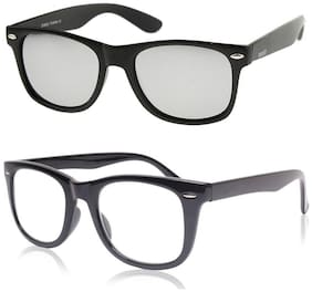 Ivonne Mirrored lens Wayfarer Sunglasses for Men