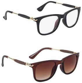 Ivonne Anti glare lens & Regular lens Wayfarer Sunglasses for Men , 2