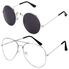 Ivonne Mirrored lens Round Frame Sunglasses for Men