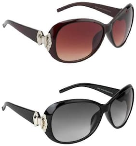 Ivonne Mirrored lens Oval Frame Sunglasses for Women
