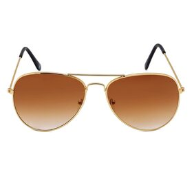 Ivy Vacker Brown Aviator Medium Sunglasses