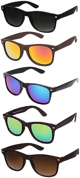 Ivy Vacker Men Mirrored Lens Wayfarers - Pack Of 1